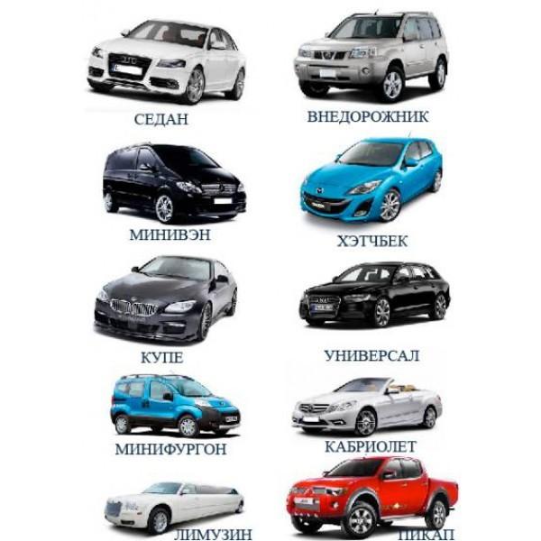 фото типы кузовов легковых автомобилей с фото очень